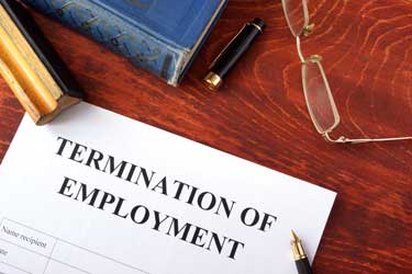wrongful termination case/claim